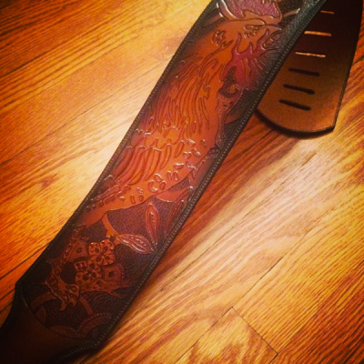 Custom Hand Tooled Wide Guitar Straps