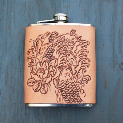 Flask: Koi & Lotus