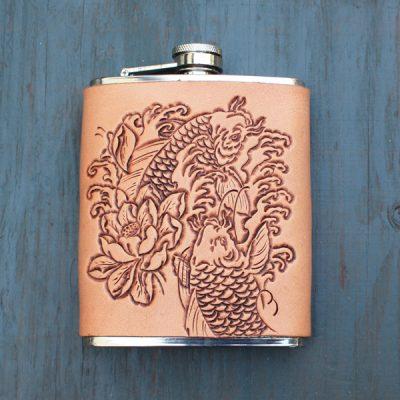 Flask: Koi & Lotus