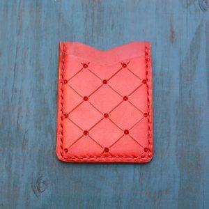 Flash Card Wallet: Red Diamond