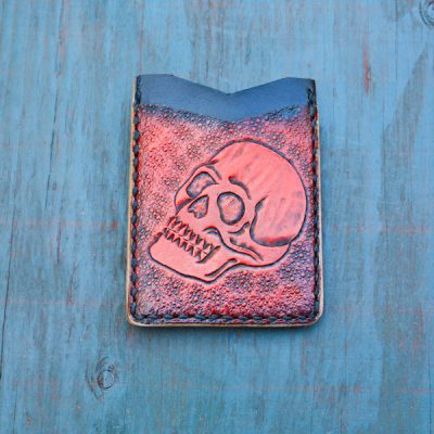 Flash Card Wallet: Red Skull