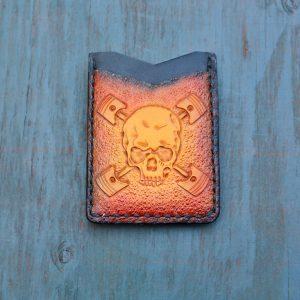 Flash Card Wallet: Skull n Pistons