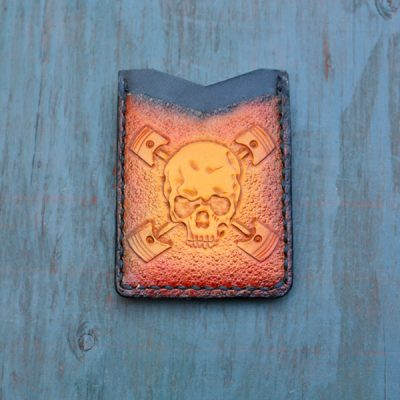 Flash Card Wallet: Skull n Pistons