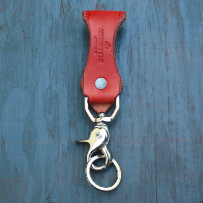 Key Holder: English Red w/ Stud Fastener