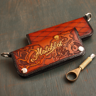 Long Wallet: Custom Motoblot Long Wallet